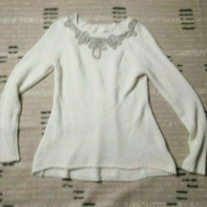 Anthropologie Angel North Knit Sweater Large Ivory